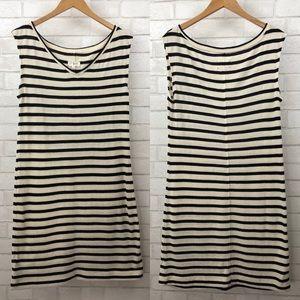 Lou & Grey V-Neck Striped Sleeveless Sweater Dress